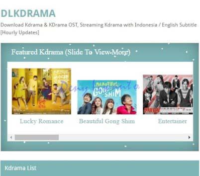 Tampilan Situs Download dan Streaming Film Online, DLKDrama