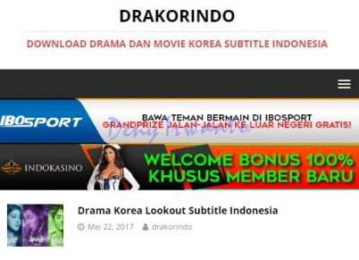 Tampilan Situs Download dan Streaming Film Online, Drakorindo