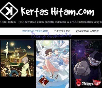 Tampilan Situs Download dan Streaming Film Online, KertasHitam
