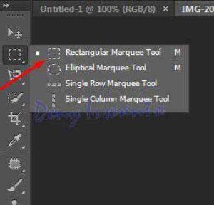 cara membuat efek sensor dengan rectangular marquee tool