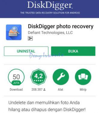 Aplikasi DiskDigger Photo Recovery