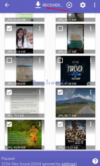 proses pemilihan gambar dan recovery photo