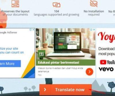 Aplikasi Penerjemah Dokumen Online Otomatis