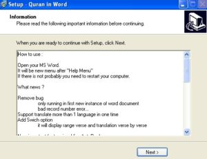 Plugin Al Qur'an pada Ms Word