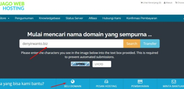 tutorial order domain di jagoweb.com
