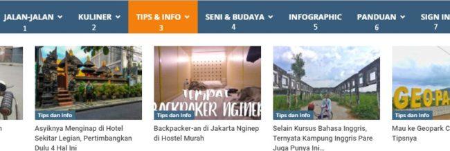 Fitur Navigasi Website di Travelblog.ID Yang Oke Punya