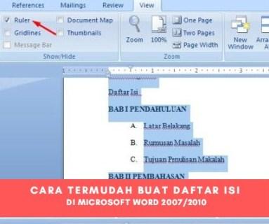 Cara Mudah Membuat Daftar Isi Otomatis Pada Microsoft Word 2007 dan 2010