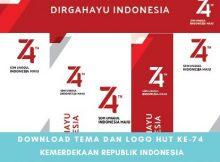 RESMI, Download Tema dan Logo HUT Ke-74 Kemerdekaan RI Tahun 2019