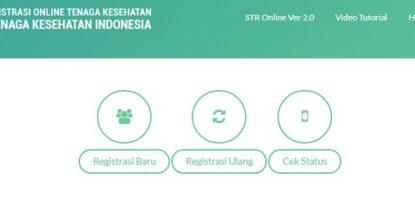 Pilihan Regitrasi STR Online