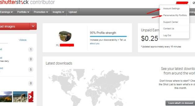 Lengkapi Data Personal Sebagai Kontributor Shutterstock